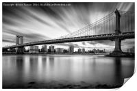 The Manhattan Bridge, Print