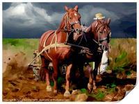 Plough Horses, Print