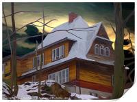 Hill House - Winter, Print