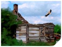 Tumbledown Cottage, Print