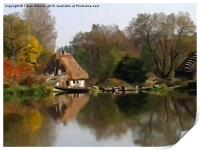 Cottage on the Lake, Print