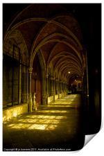 cathedrale cloister belgium, Print