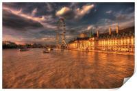 London Eye Sunset, Print