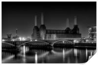 Battersea black and white, Print