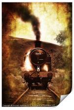 steam engine 5643, Print