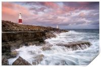 Stormy Sunset at Portland Bill, Print