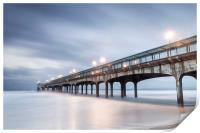 Dawn at Boscombe Pier, Print