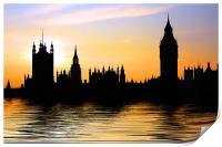 Westminster Skyline, Print