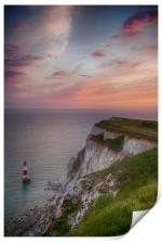 Beachy Head Sunset, Print