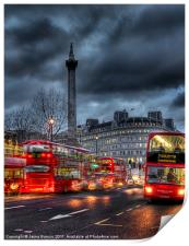 London red buses, Print