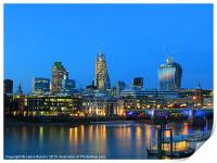 The Cheesegrater and The Walkie Talkie, Print