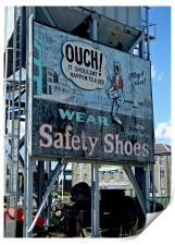 Ouch Safety Shoes, Print