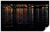 City Lights Upon the Water (1), Print