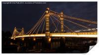 Albert Bridge, London, Night, Print