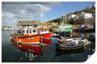 Mevagissey, Cornwall, Harbour , Print