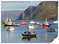 Portree, Isle of Skye, Scotland, Print