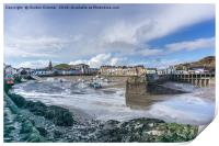 A View of Ilfracombe Harbour at Low Tide, Print