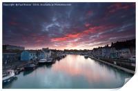 Weymouth at Sunrise, Print