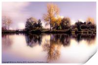 Autumn Pond, Print