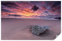 Stone at Sunrise, Print