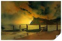 Shaldon cliffs, Print