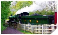 Steam Locomotive At Shackerstone, Print