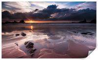 Hartland Sunset, Print