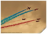 raf red arrows team, Print