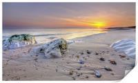 Hengistbury Head Sunset, Print