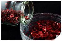 Red Glitter, Print