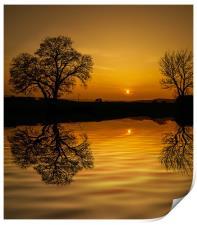 Sunset at Holbrook, Print