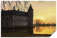 Sunset at Horst Castle, Print