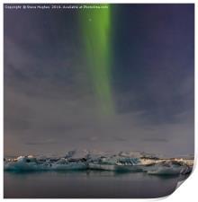 Northern Lights above the Jökulsárlón ice lagoon, Print
