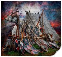 The viking camp, Print