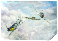 Aerial Dual over Europe, Print