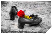 Shoes On The Danube River, Print