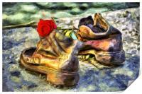 Shoes On The Danube Van Gogh, Print