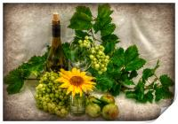 vino and flowers x, Print