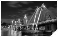 The Hungerford Bridge London, Print