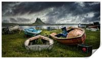 Boats at Lindisfarne, Print
