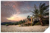 Tropical Sunset, Print