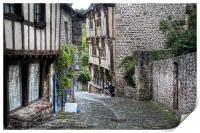 Dinan, Brittany, France, Print