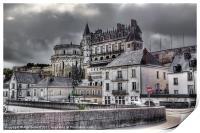 Château d'Amboise, Amboise, France, Print