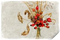 Rosehips and Grasses, Print