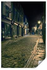Whitby Street at Night, Print