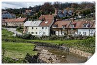 Sandsend Village, Yorkshire, Print