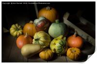 A Crate of Pumpkins, Print