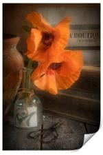 Two Poppies in a Vase, Print