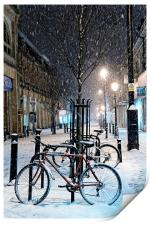 Cycles in the Snow, Print