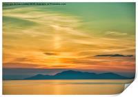 Sunset over The Isle of Harris, Print